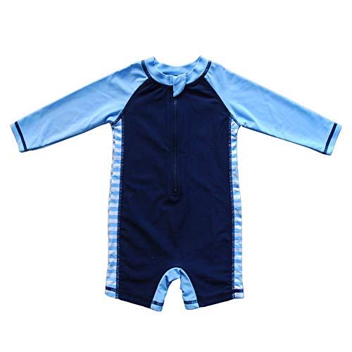 Baby Beach One-Piece Swimsuit UPF 50+ -Sun Protective Sunsuit Dark Blue,18 Months