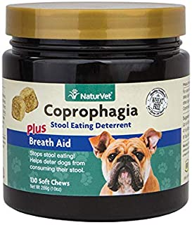 NaturVet 130 Count Coprophagia Soft Chew Bottle for Dogs (2 Pack)