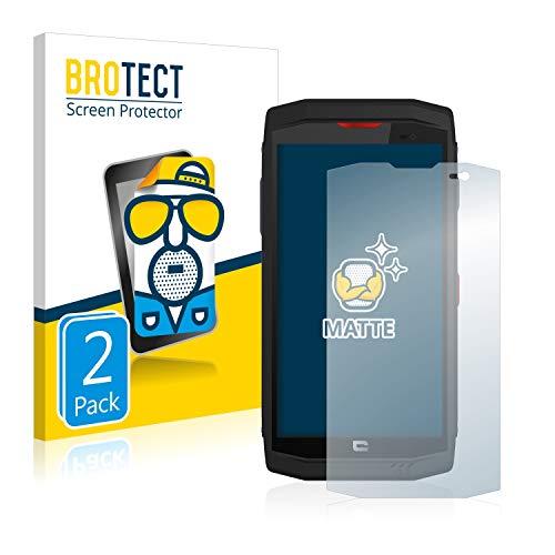 BROTECT 2X Entspiegelungs-Schutzfolie kompatibel mit Crosscall Trekker X3 Bildschirmschutz-Folie Matt, Anti-Reflex, Anti-Fingerprint