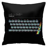 Funda de almohada Sinclair Zx Spectrum para consola de videojuegos decorativa funda de almohada cuadrada para decoración del hogar, 45,7 x 45,7 cm