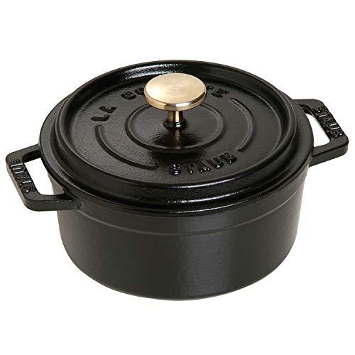 STAUB Mini Cocotte en Fonte, Ronde 12 cm, 0,25 L, Noir