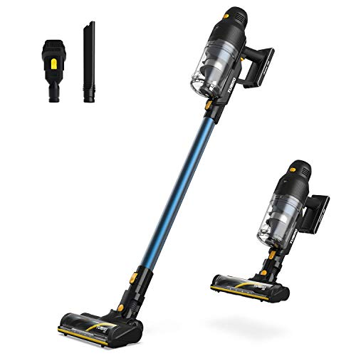 TURBRO Jeeves J22 Cordless Vacuum Cleaner, 22kPa Powerful Vac w/Brushless Motor, Stick and Handheld 2-in-1, Wall-Mount, 3X Suction Modes, up to 50 min Runtime