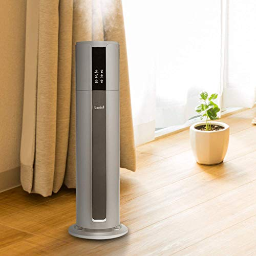 Lacidoll Large Humidifiers for Home Large Room Whole House Top Fill 2.1Gal/8L , 500 sq.ft. Quiet Cool Mist Ultrasonic Humidifiers Runs up to 48 Hours, Auto Shut-Off and Easy to Clean