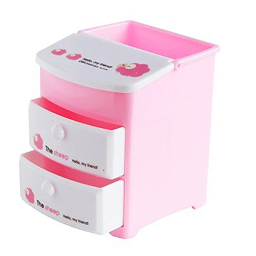 Multifunktions-Stifthalter, Pink Schreibtisch Supplies Tidy Organisatoren Cute Pen Pot