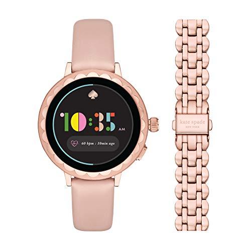 kate spade new york Women's Scallop 2 Stainless Steel Touchscreen smartwatch Watch...