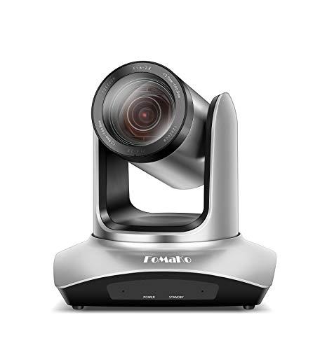 FoMaKo - Videocamera per Videoconferenza, 12 x Zoom, HDMI, USB, PTZ, Full HD, 1080p, Codice dell'Articolo: FMK12UH