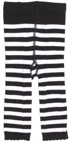 Sourpuss Gestreepte Baby Leggings Zwart/Wit 18-24M Grootte: 18-24 Maanden Kleur: Zwart/Wit, Model: SPKDLEG2BLKWHT:18-24M