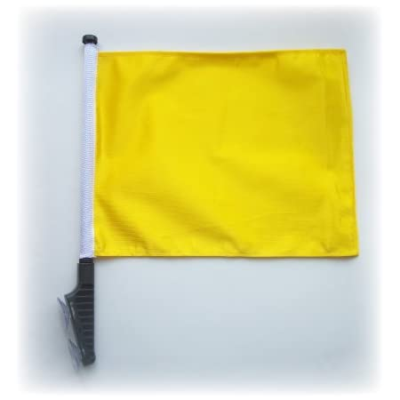 Yellow Golf Cart Flag With Ssp Flags Ez Stick On Off Suction Cup Bracket Golf Cart Accessories Sports Outdoors