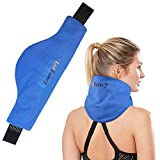 LotFancy Neck Ice Pack Wrap, Hot Cold Therapy for Shoulders, Cervical, Medical Cooling Gel Pack, Relieve Pain Arthritis Tendonitis Sports Injuries Migraines Headache
