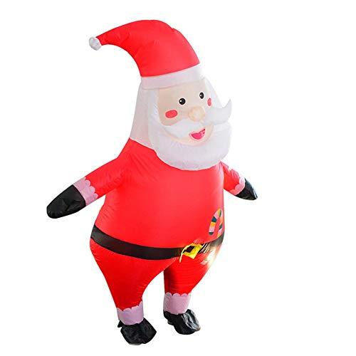 Enjoyyouselves Disfraz hinchable de Papá Noel, para fiesta de Navidad, cosplay, disfraz para adultos o niños, ropa de fiesta