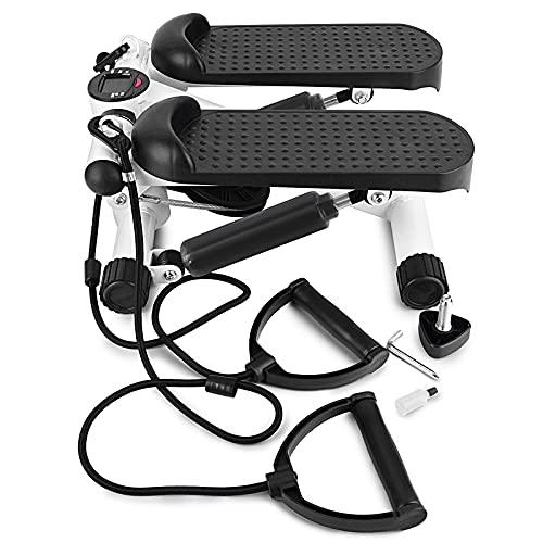 CXSMKP Mini ejercitador de Pedales de Bicicleta estática, Buhonero portátil de Ejercicio para Bicicleta Debajo del Escritorio para Entrenamiento de piernas con Pantallas electrónicas LCD
