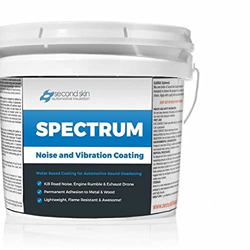 Second Skin Audio Spectrum Liquid Sound Deadening Spray and Paint - Water Based Viscoelastic Vibration Damper for Automotive Insulation (5 Gallons)