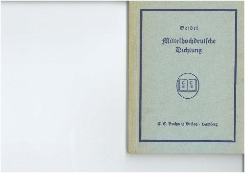 Mittelhochdeutsche Dichtung
