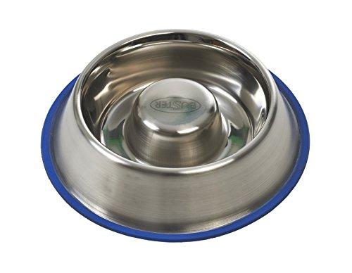 JORGEN KRUUSE A/S Buster Stainless Steel Slow Feeder for Dogs Comedero Anti Ansiedad P/Perro Median Kruuse 94166, metálico