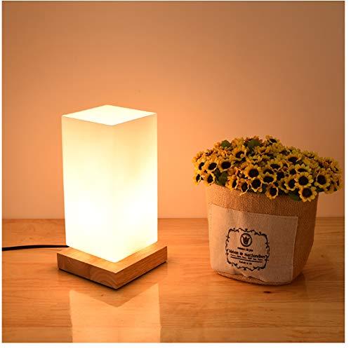 Schreibtisch Dekoration Holz Lampe E27 Lampenfassung Nachtlicht Milchglas Tisch Leselampe Mit Schalter