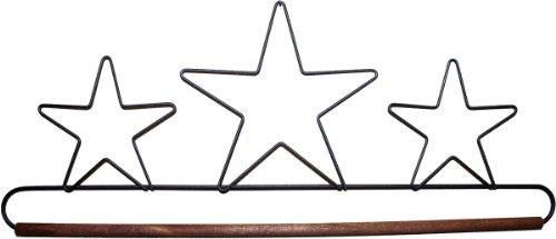 Ackfeld 40,6cm Dübel Stoff Halter, DREI Sterne