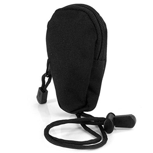 Vorcool Mini sac de transport Portable de voyage Monnaie Purse Changement Wallet Key Pouch avec porte-clés Intégré pour exercices d'extérieur (Noir)