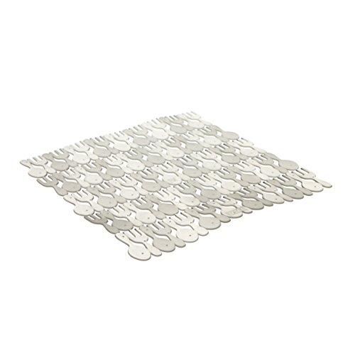 TATAY 1128001 - Salvaplatos protector de fregadero, Transparente, 28x0.5x28 cm