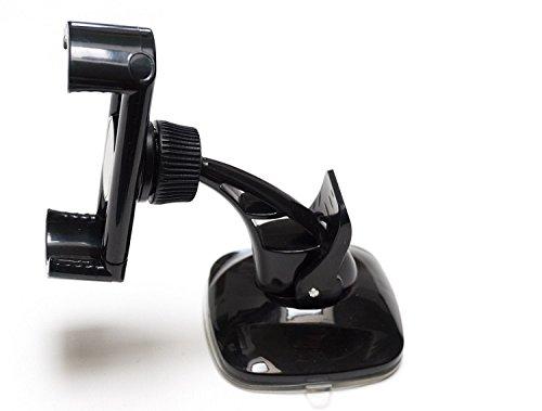 K-S-Trade FürOnePlus 5T Kompakte Halterung Windschutzscheibe/Armaturenbrett Schwarz Autohalterung KFZ Halter Scheiben-Halterung Armaturenbrett-Halter Kompatibel Mit OnePlus 5T