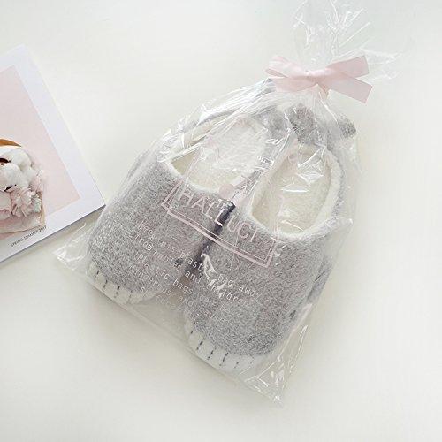 HALLUCI Women's Cozy Fleece Memory Foam House Trick Treat Halloween Slippers (7-8 M US, Wicky Shark)