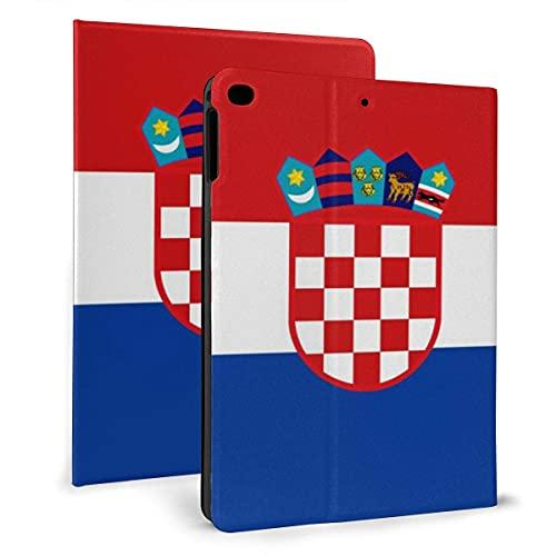 Croacia bandera Flip protectora pu cuero cartera Tablets caso para IPad mini4/5 7.9 pulgadas, soporte giratorio inteligente magnético auto despertador/sueño cubierta casos