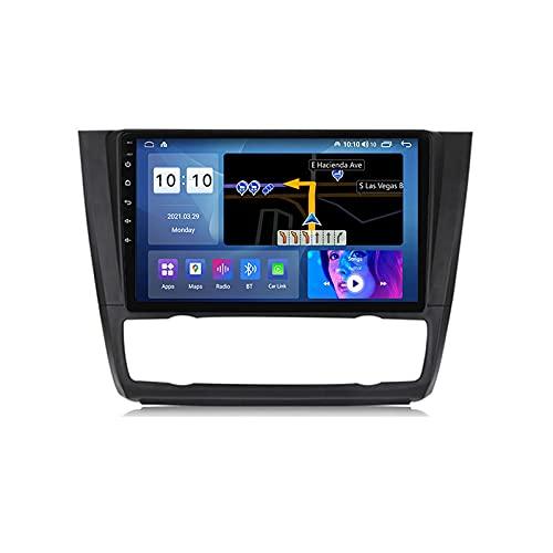 Navegación GPS para automóvil, Android 11 Estéreo para automóvil para BMW Serie 1, E88, E82 2006-2012 Navegación 2 DIN 9 '' Pantalla táctil Información del automóvil Plug and Play 5G WiFi SWC Soport