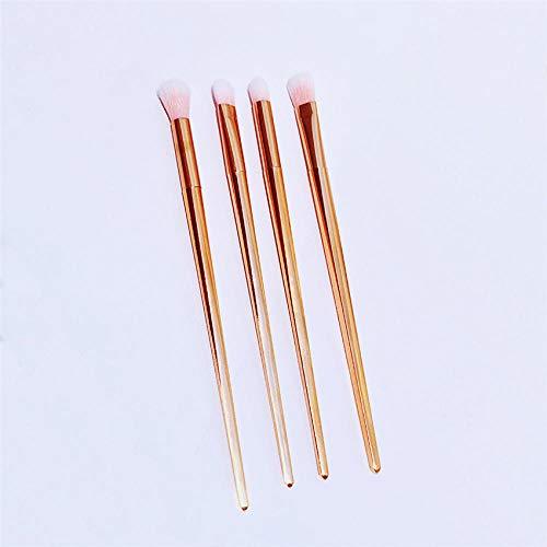 Fanxp® 4Pcs Rose Makeup Brushes Brush Set de maquillage des yeux, Yebrow Eyeshadow Eyeliner Lip Brush Tool Kit