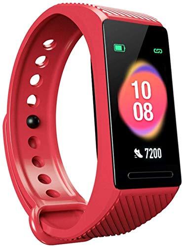 Pulsera Bluetooth con recordatorio inteligente y contador de pasos Bluetooth impermeable para deportes (color: rojo)