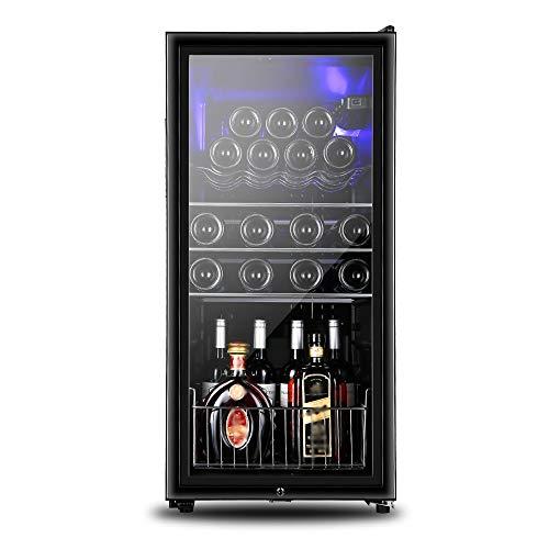 Xiao huang li Weinkühler Weinkühler Kühlschrank / 28 Flaschen Champagner-Schrank/Temperiergeräte/Größe 44X50X94cm / Leistung 70W, Spannung 220V / Kindersicherung