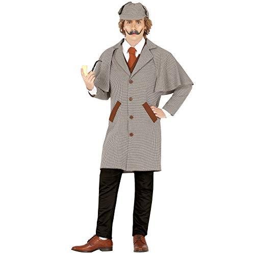 NET TOYS Original Disfraz para Adulto Sherlock Holmes - Gris L (ES 52/54) - Autentico Traje de Agente Secreto para Adulto Fiestas temticas y Fiestas de Disfraces