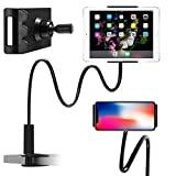 Cell Phone Holder, Phone Clip Holder Clamp for Desk,Universal Phone Stand Holder Mount