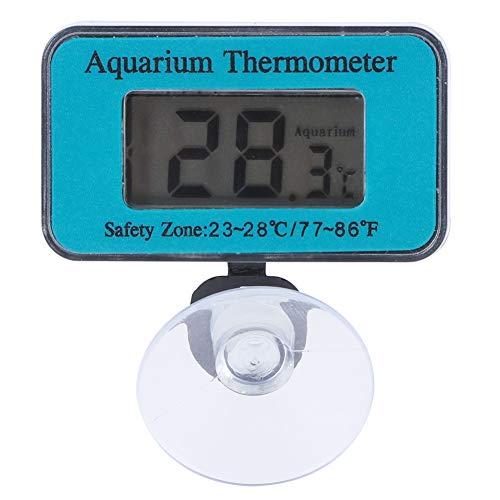 TEANQIkejitop Termometro Digitale LCD Impermeabile con Ventosa. Termometro por Acquario de Utilizzato por Acquario
