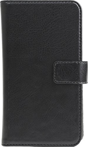 """Preisvergleich Produktbild SKECH Universal Wallet Case für Smartphones von 4, 8"""" - 5, 7"""",  z.B. Apple iPhone 7 Plus [Innovatives Haltesystem / Kartenfächer / Magnetverschluss / schwarz / Kunstleder] - SK45-UWL-BLK"""