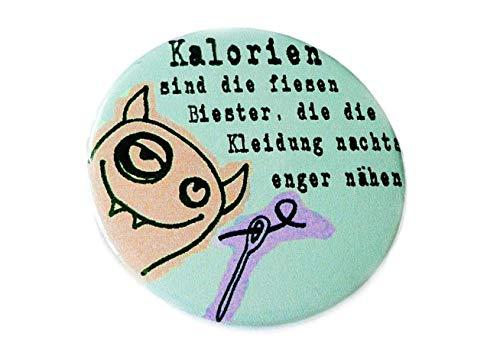 Kalorien Button Magnet Flaschenöffner oder Spiegel