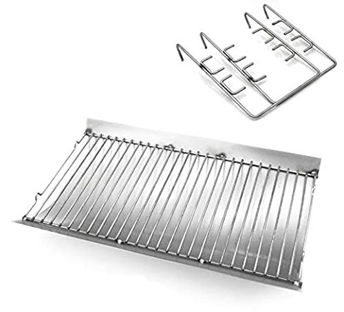 Htanch SZ3509 (1-Pack) 20.4 inches Aluminized Ash Pan with Steel Wire Grate for Chargriller 5050, Chargriller 5072, Chargriller 5650