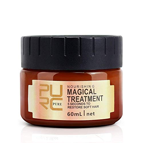Magical Treatment Hair Mask, Repairs Damage Restore Soft Hair Care 5 Seconds Repairs Damage Hair Root, Deep Conditioner Suitable For Dry & Damaged Hair- 60ml 1 Pack