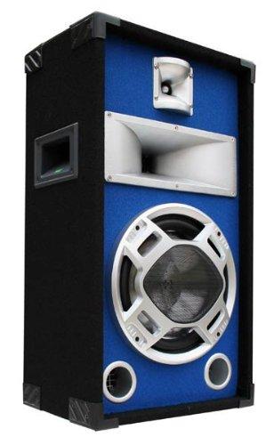 E-Lektron SPL25 400W Party PA Lautsprecher Disco Box 25cm BASS Blue-LED