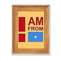 私はソマリアから来ました デスクトップ木製フォトフレームディスプレイアート絵画セット