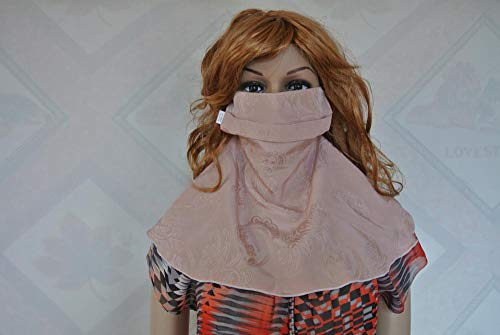JKLAQ Sonnenfestes, Atmungsaktives, Sandfestes, Staub- Und Kältebeständiges Gesicht, Seidenhalsmaske Aus 100% Seide, 300