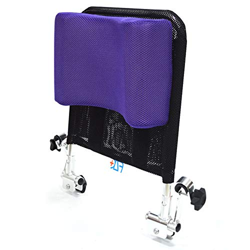 Lekoc 車椅子用ヘッドレスト 背もたれクッション U型枕 角度調整可能 低反発 通気性 トイレチェア適用 (パープル)