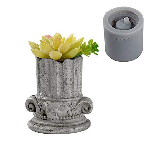 European Pot Molds Concrete Planter Molds Roman Column Design Vase Molds Succulent Plants Pot Molds