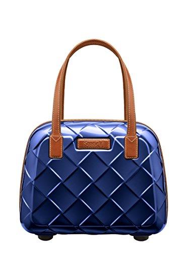 Stratic Leather & More Beauty Case Neceser de Viaje, 36 cm, 15 Liters, Azul (Blue)