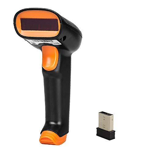 NgMik Scanner de Codes à Barres Portable 2.4G sans Fil 1D Barcode Scanner Jusqu'à 50 M USB Filaire sans Fil 1D Lumière Lecteur Scanner pour l'usine, l'entrepôt, la Pharmacie