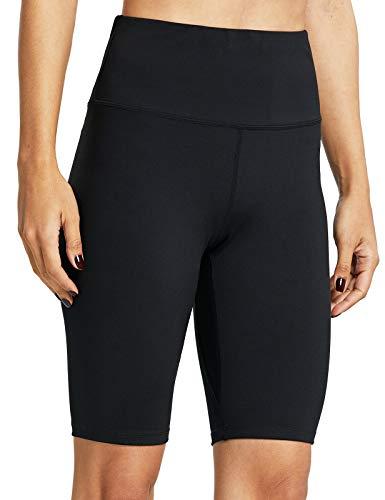 ZUTY Biker Shorts for Women High Waisted with 2 Hidden Pockets Workout Athletic Running Yoga Long Shorts Black 3XL