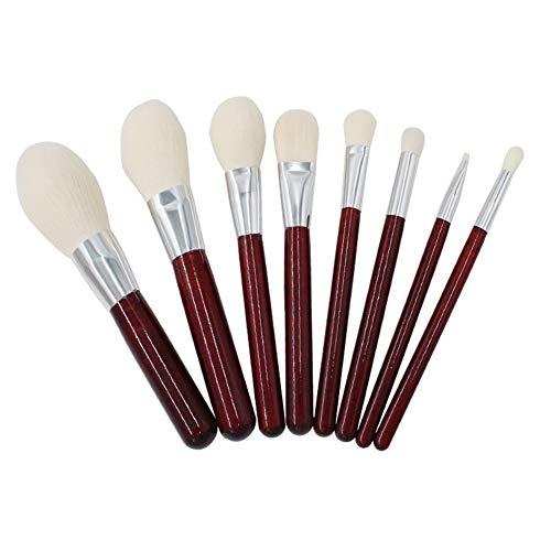 Sets de pinceaux de Maquillage 8 Pinceau De Maquillage Ensemble Manche en Bois Fondation Blush Pinceau Ombre À Paupières Beauté Outils De Maquillage Portable Brosse De Beauté Pinceau De Maquillage