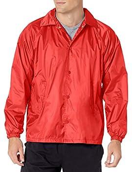Augusta Sportswear Men s Nylon Coach s Jacket/Lined Red X-Large