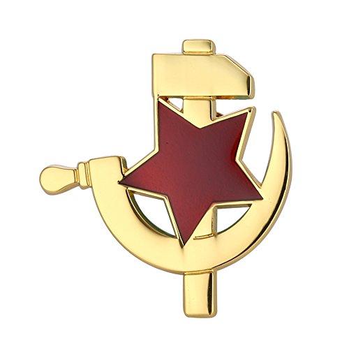 GuDeKe Sowjetischen roten Stern mit Hammer und sichel Icons CCCP USSR Emblem Revers Pin Abzeichen
