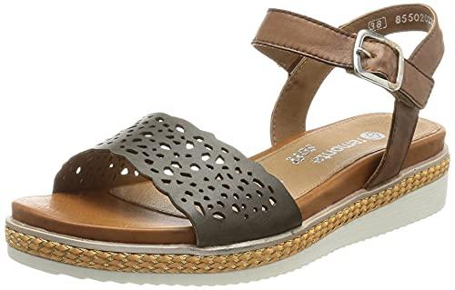 Remonte Damen R4552 Sandale, Forest/Muskat / 54, 45 EU