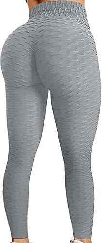 Greatideal Pantalones de yoga de cintura alta para mujer, pantalones de yoga de cintura alta, control de barriga, leggings elásticos para correr, yoga