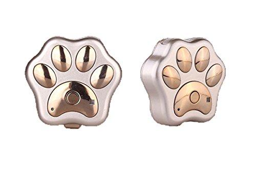 Localizador de mascotas inalámbrico en tiempo real GPS Tracker mini perros gatos collar impermeable dispositivo antipérdida, alarma de seguridad remota, dorado-3G, 5,6 x 6 x 1,6 cm